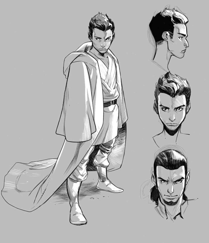 Kanan sketches by Pepe Larraz