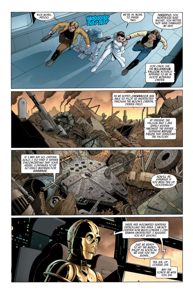 Star Wars #1 interior page