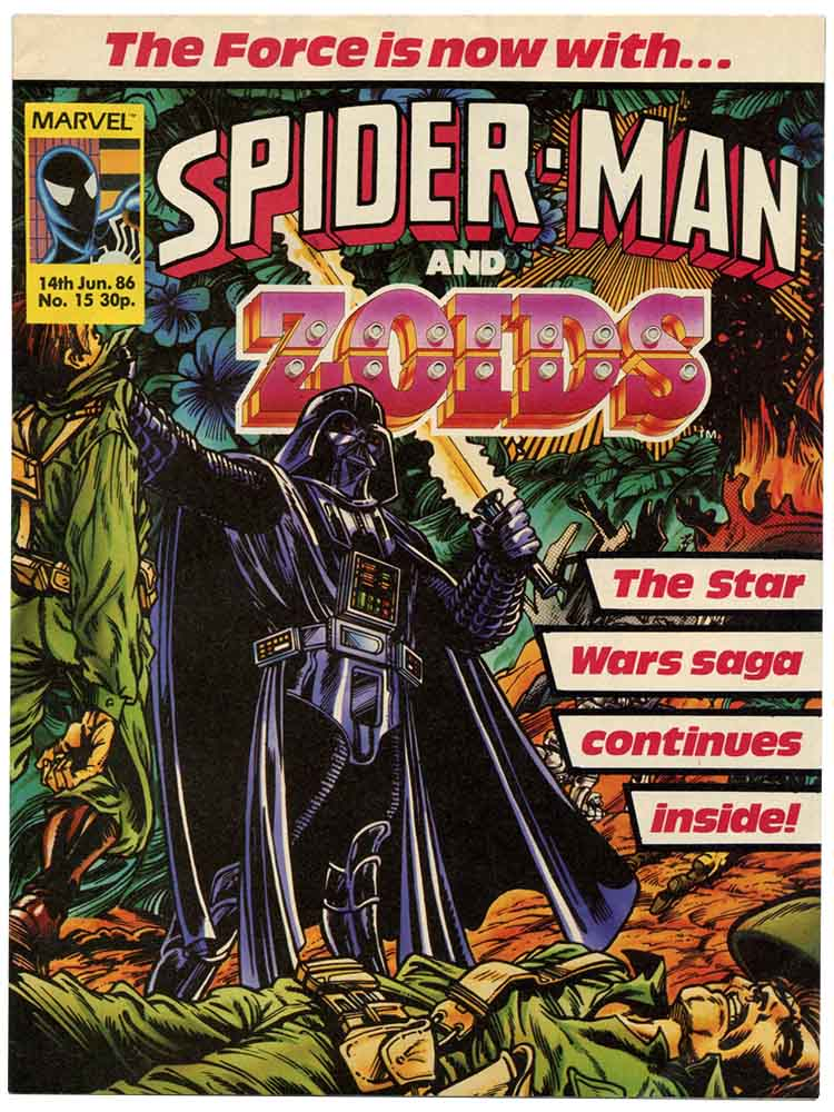 Spider-Man and Zoids, June 1986 - Marvel Star Wars comic