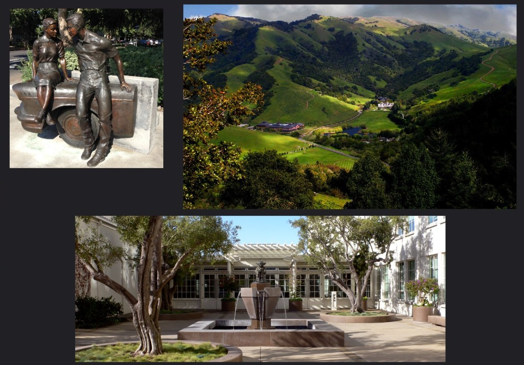 Modesto, Skywalker Ranch grounds with Lake Ewok and the Letterman Digital Arts Center