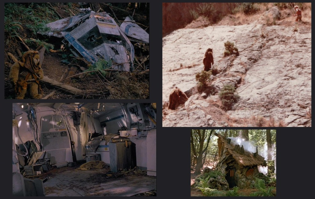 Caravan of Courage and The Battle for Endor locations.