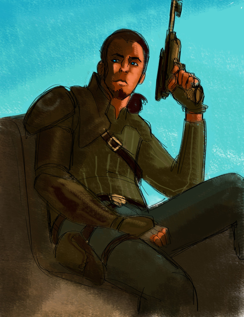 An early concept drawing of Kanan from Star Wars Rebels by Dave Filoni