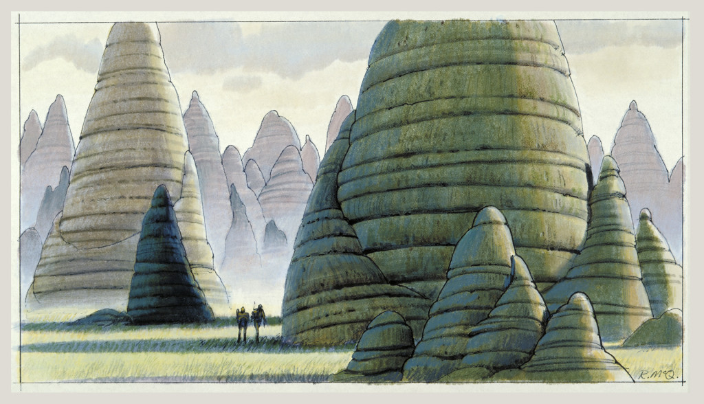 Ralph McQuarrie concept art from the original Star Wars trilogy, used as inspiration for Star Wars Rebels