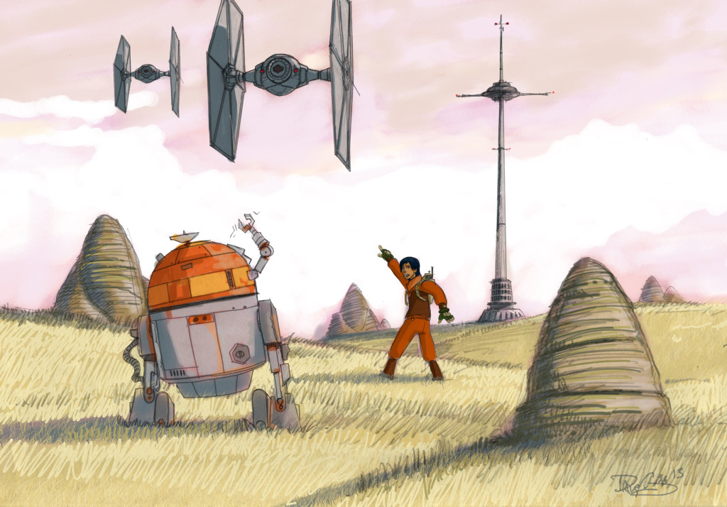 """Tower Story,"" Dave Filoni's early concept drawing for Star Wars Rebels"