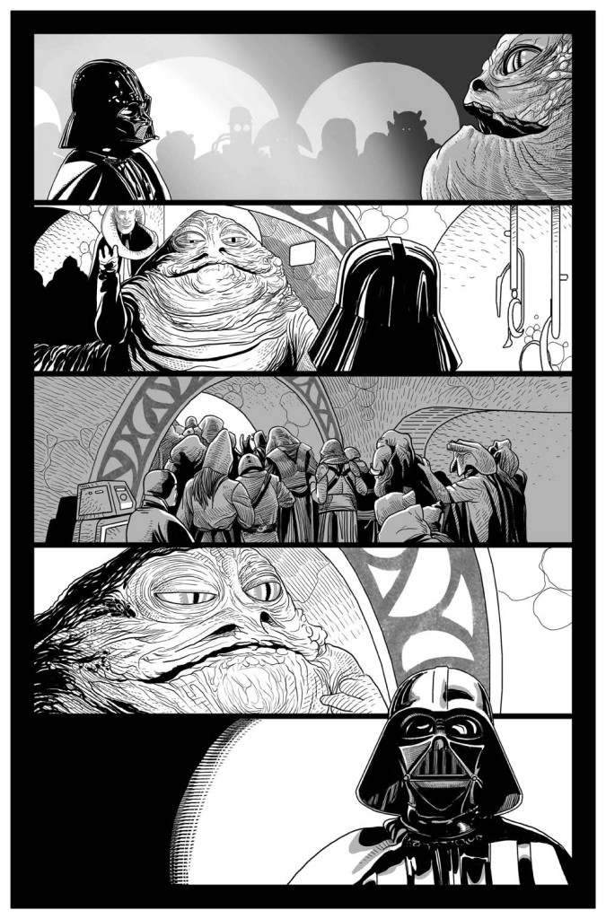 Darth Vader page by Salvador Larroca