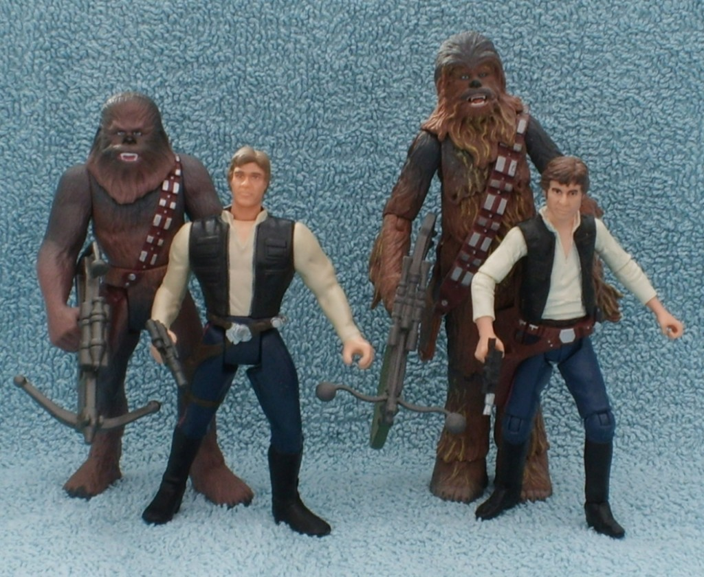 Hasbro action figures - Han and Chewie