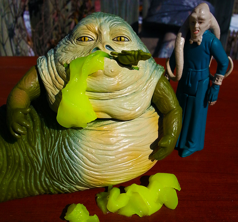 Jabba Glob doing what he does best