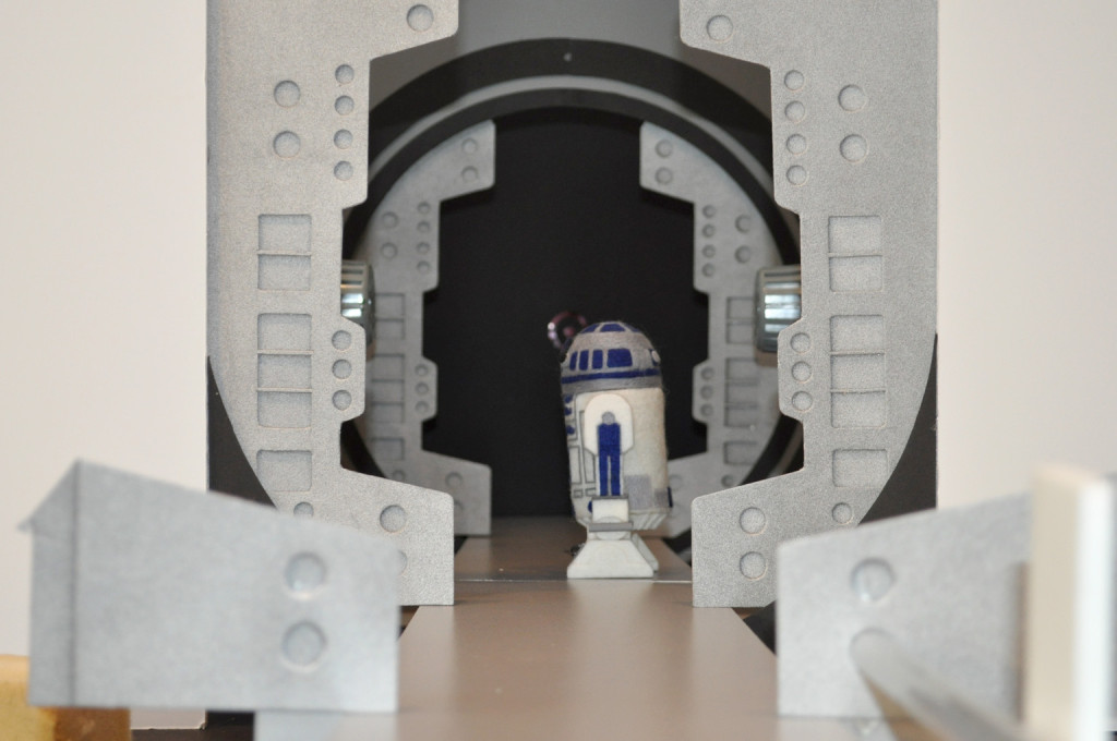 Star Wars Epic Yarns - blog06 - Blockade Runner scene set-up