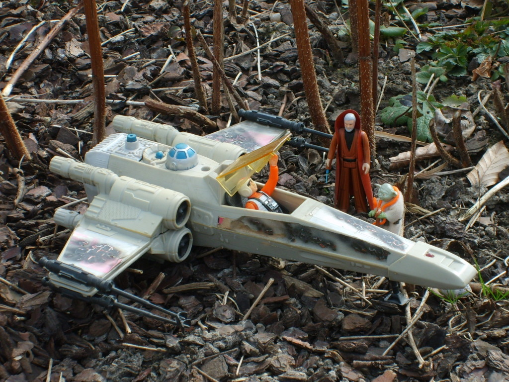 Vintage Kenner Battle Damage X-wing