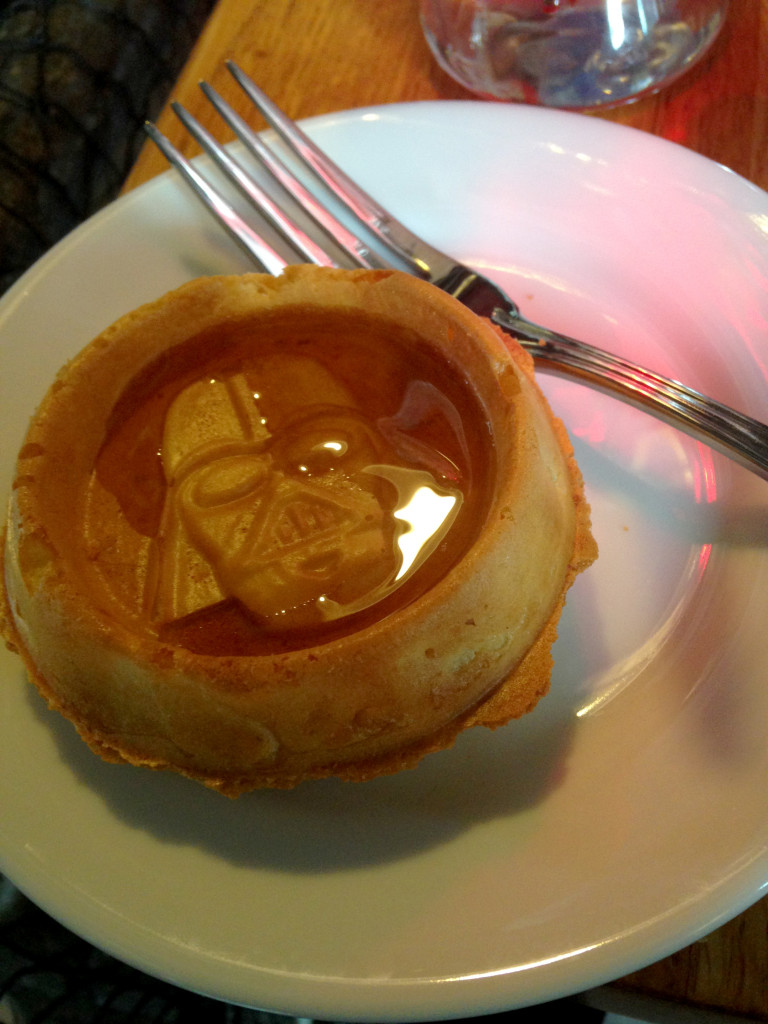 Darth Vader pancakes at Star Wars Weekends