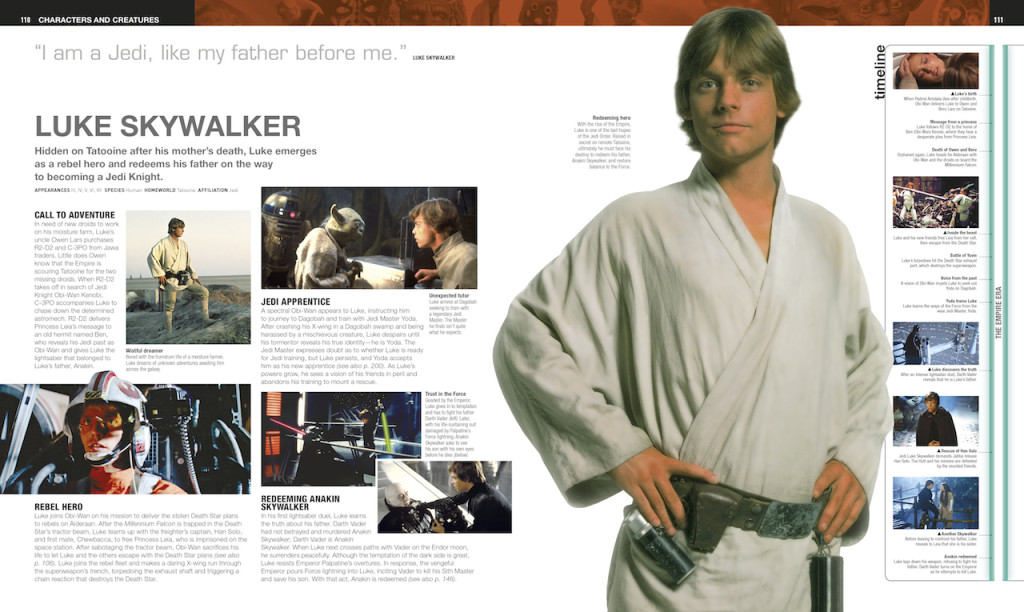 Ultimate Star Wars, Luke Skywalker entry