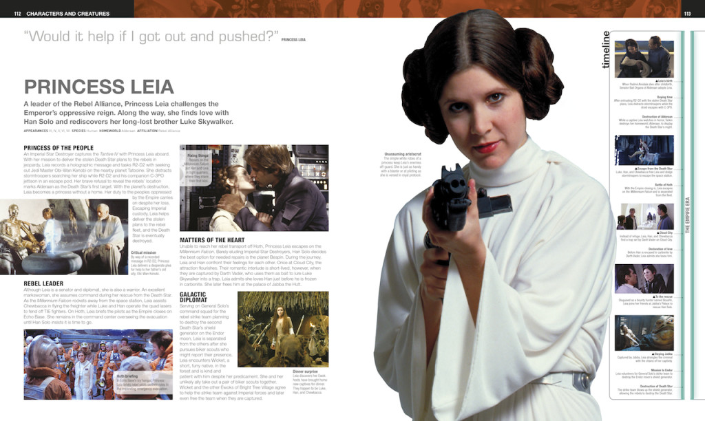 Ultimate Star Wars, Princess Leia entry