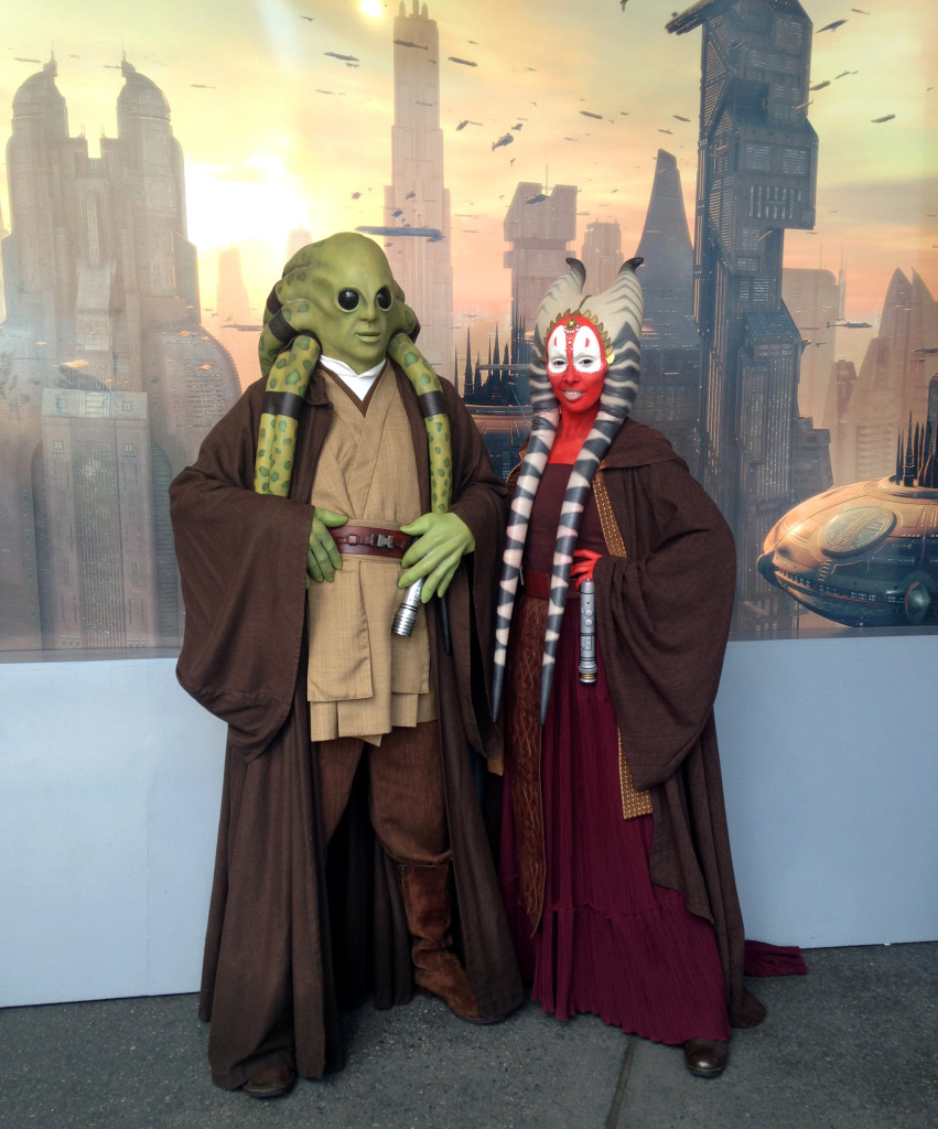 Kit Fisto and Shaak Ti at Star Wars Weekends