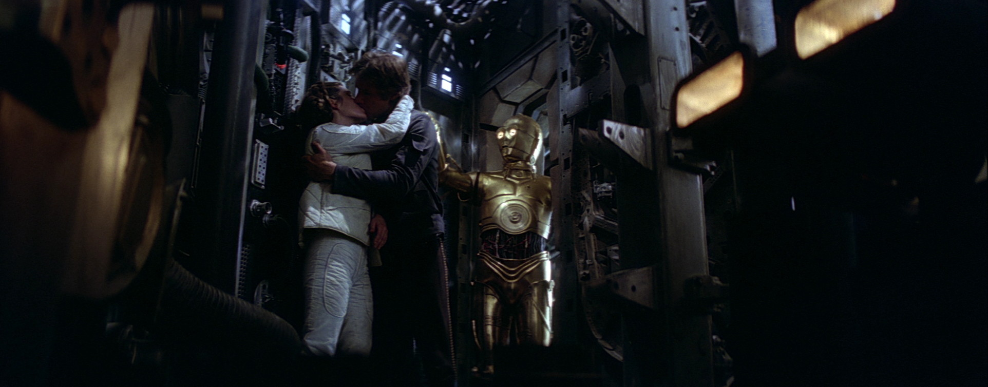 C-3PO interrupts Han and Leia in The Empire Strikes Back