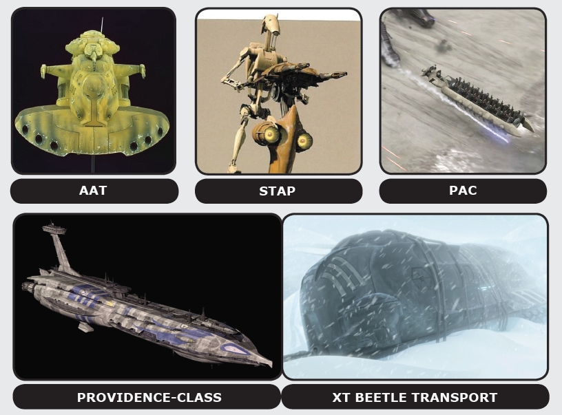 Trade Federation transport vehicles