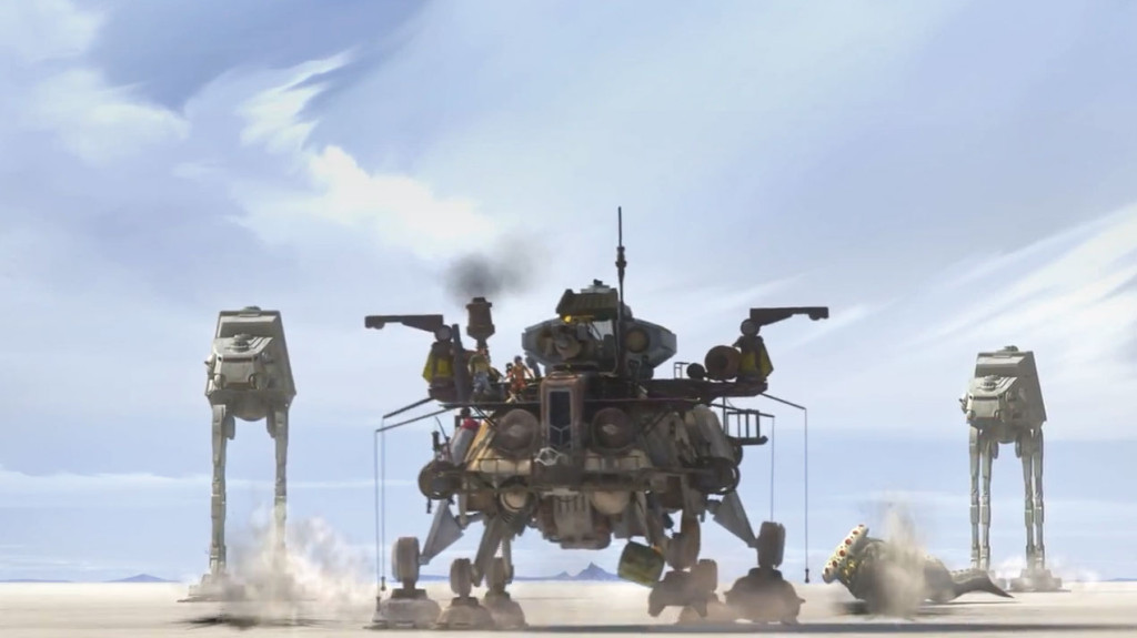 AT-ATs march across Lothal.