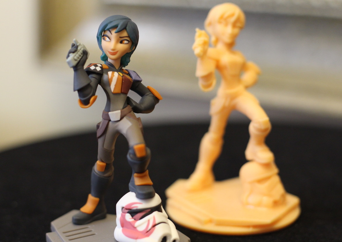 Disney Infinity Sabine with 3D prototype