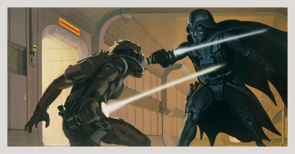 Darth Vader vs. Deak Starkiller by Ralph McQuarrie