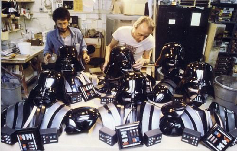 Darth Vader costume parts for Return of the Jedi