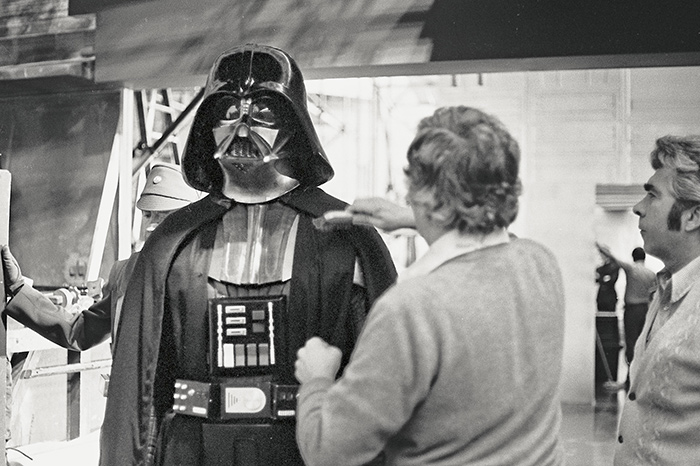 David Prowse is getting ready for filming.