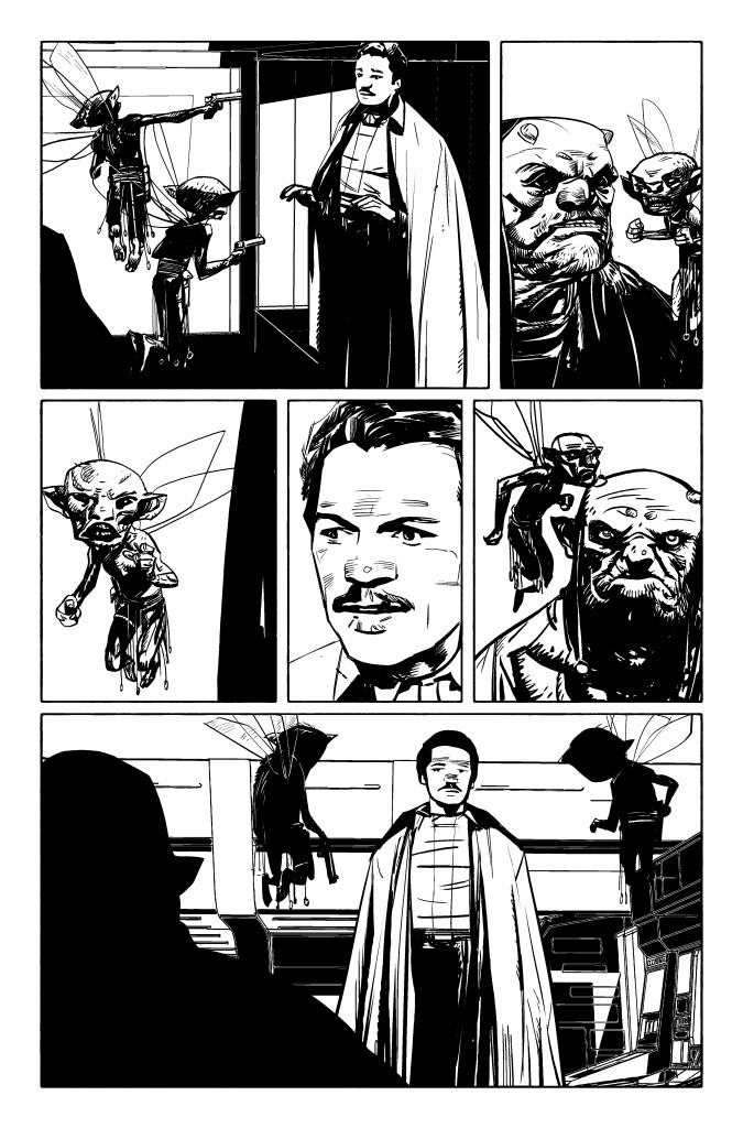 Marvel's Lando #1 preview page by Alex Maleev