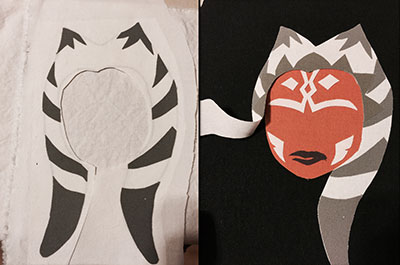 DIY Star Wars Ahsoka Tano bag