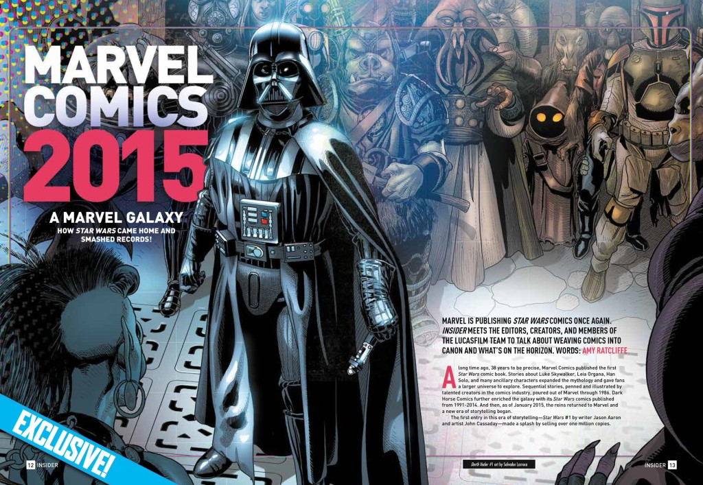 Marvel Comics featured in Star Wars Insider 158