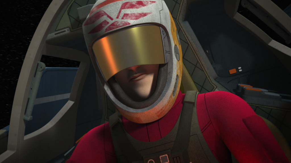 "A-wing pilot in Star Wars Rebels ""The Siege of Lothal"""