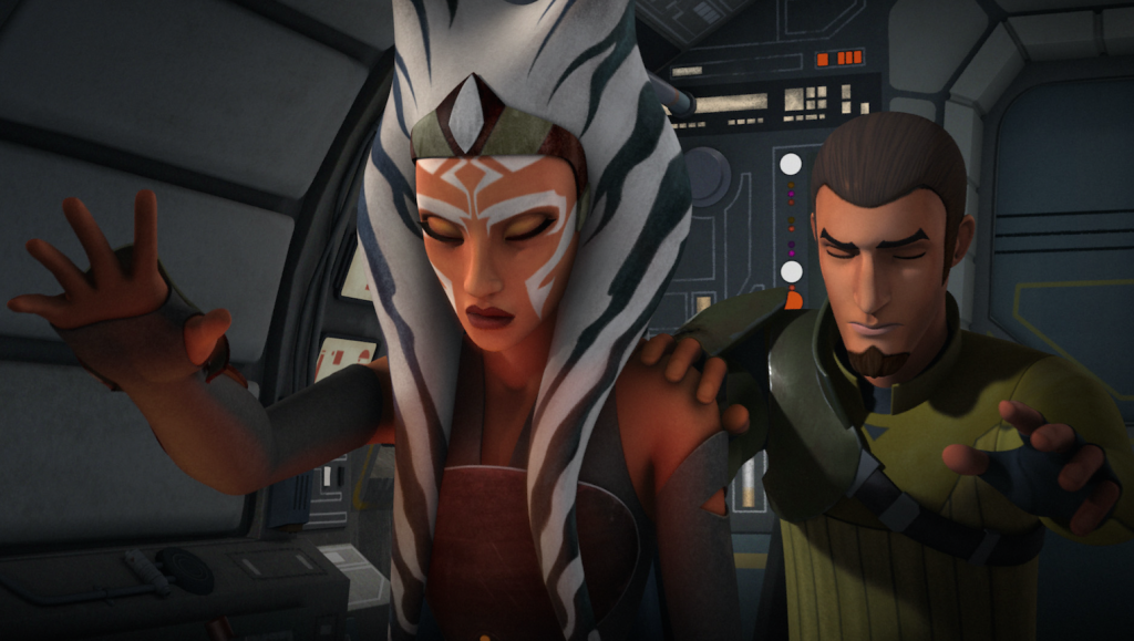 "Ahsoka and Kanan in Star Wars Rebels ""The Siege of Lothal"""