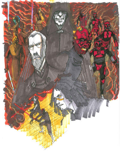Star Wars: Dark Disciple sketch by Dave Filoni