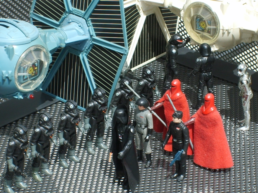 Tie fighter toy and action figures