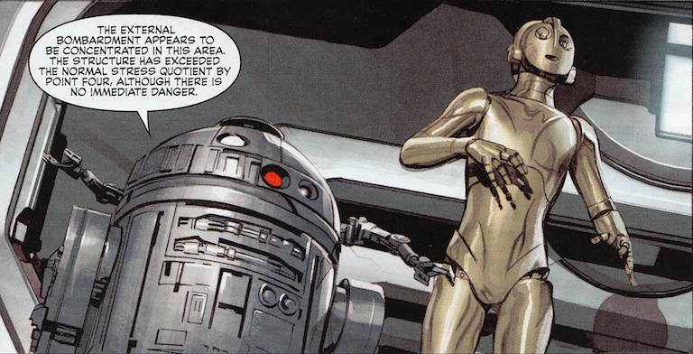 R2-D2 and C-3PO in The Star Wars #2