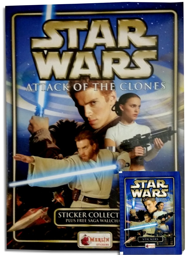 Star Wars: Attack of the Clones sticker book - cover