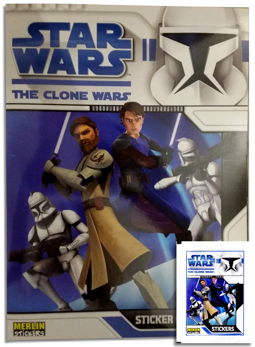 Star wars the clone wars sticker album cover