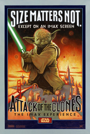 Attack of the Clones IMAX poster