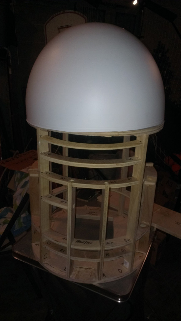 An R2-D2 Builders Club droid in progress
