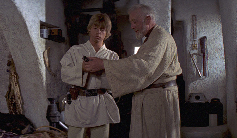 Luke and Obi-Wan in A New Hope
