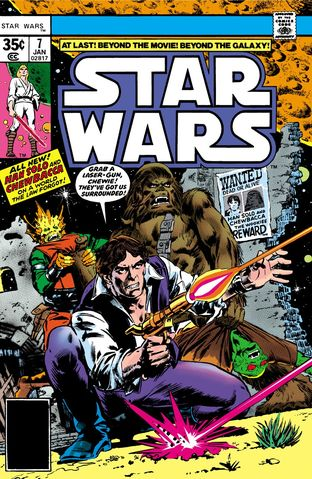 Star Wars comic book cover
