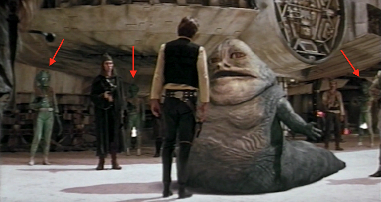 Han Solo speaks to jabba