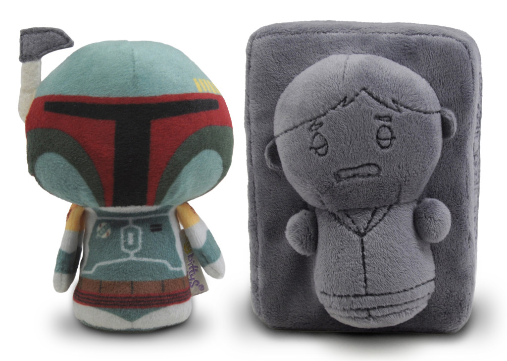 Boba Fett and Han Solo plush