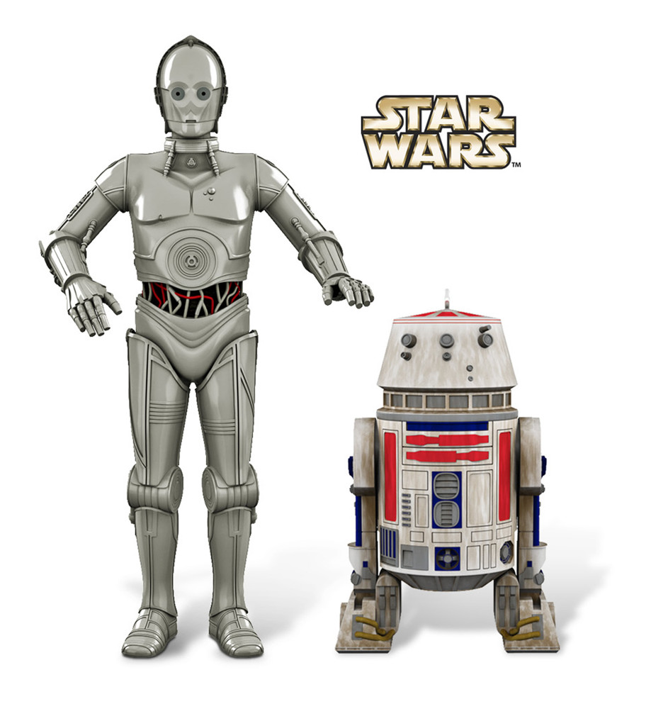 Hallmark droid ornaments