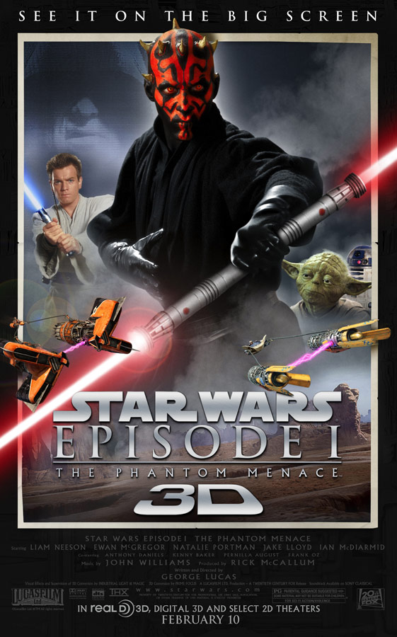 The Phantom Menace 3D poster