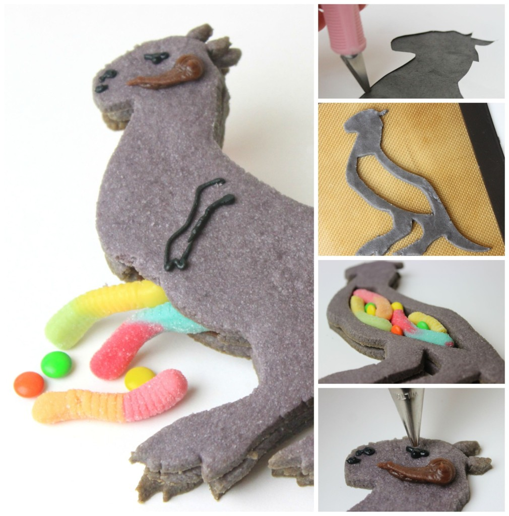 How to make a Tauntaun cookie - steps