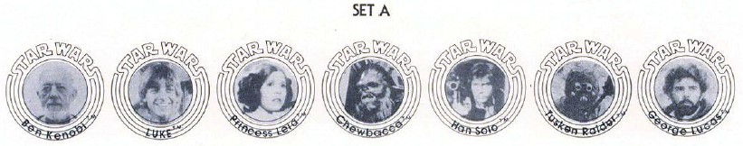 Star Wars Buttons Set A