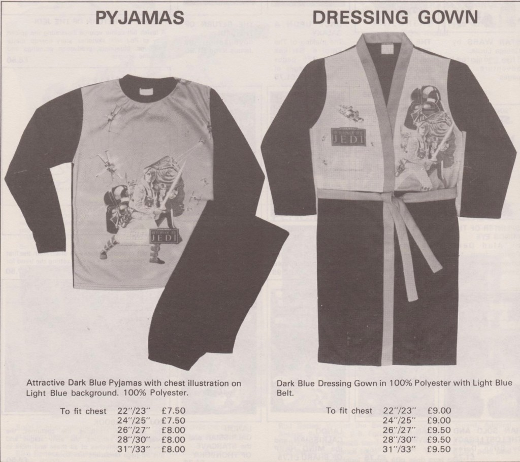 Star Wars pyjamas and dressing gowns