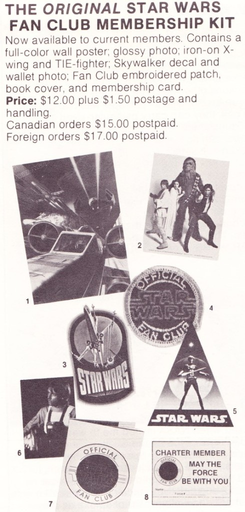Official Star Wars Fan Club Membership Kit