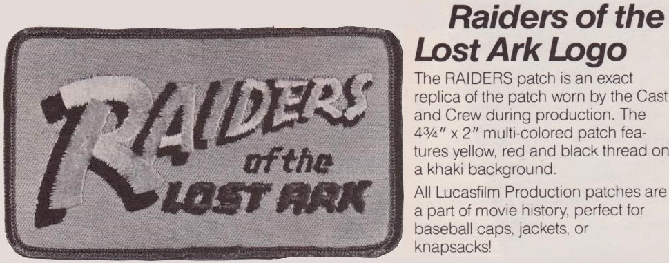 Raiders of the Lost Ark Logo Patch