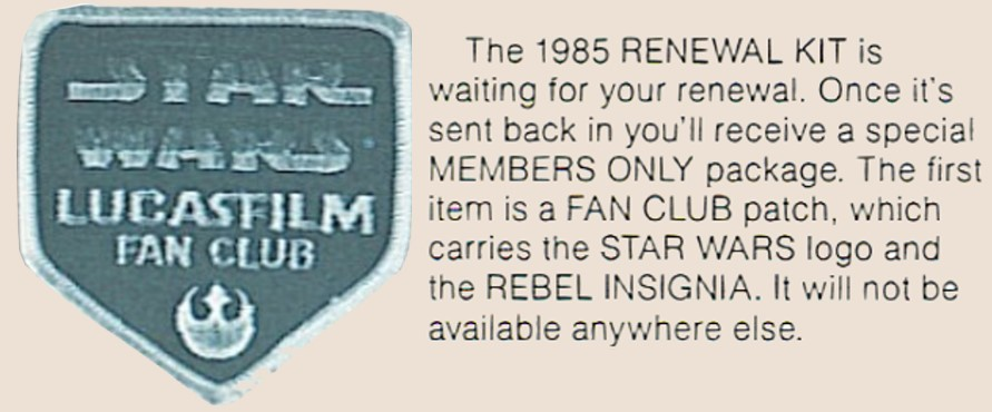 Lucasfilm Fan Club Patch