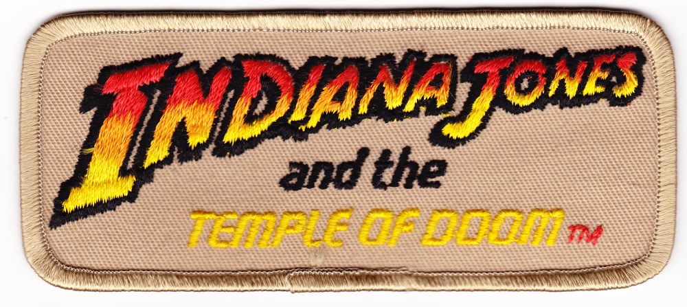Indiana Jones and the Temple of Doom Logo Patch