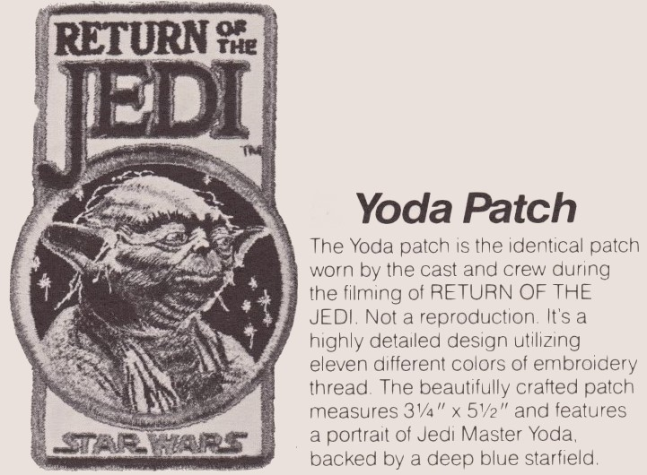 Return of the Jedi Yoda Patch